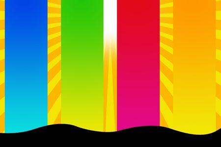 Seasons free background with sun Stock Photo - 5722447