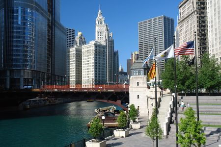loopable: Chicago citi center at sunny day