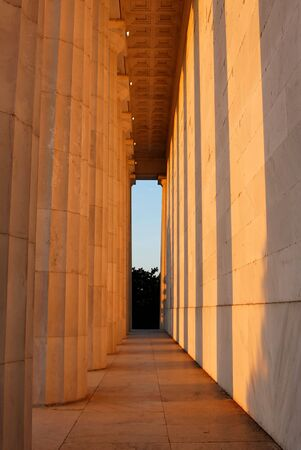 Lincoln Memorial at sunset photo