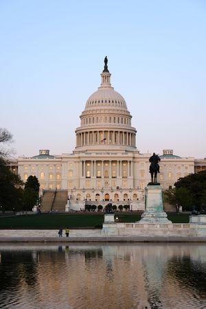dc: Capitol Hill, al tramonto, Washington DC
