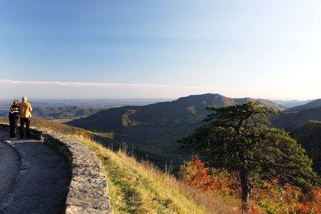 Shenandoah National park at the fall: a mountain view photo