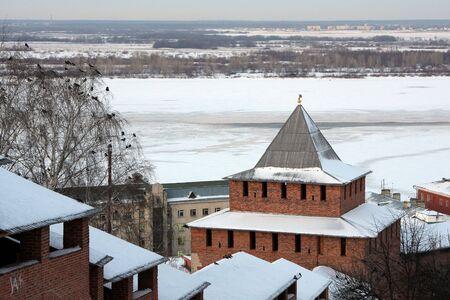 novgorod: Nizhny Novgorod kremlin at winter