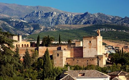Alhambra at the evening, Granada, Spain Stock Photo - 3694945