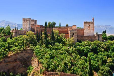 Alhambra en la ma�ana, Granada, Espa�a Editorial