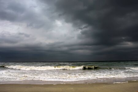 mood moody: Stormy weather, Atlantic ocean coast, MD, USA