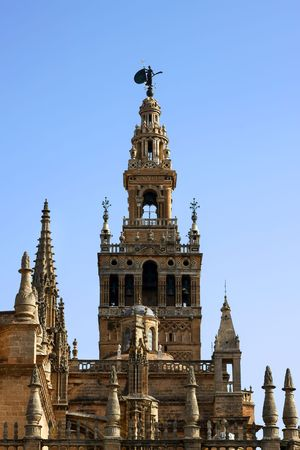 sevilla: La Giralda, Sevilla, Spanje, fragment