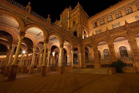 sevilla: Plaza de Espana, Sevilla, Spanje  Stockfoto