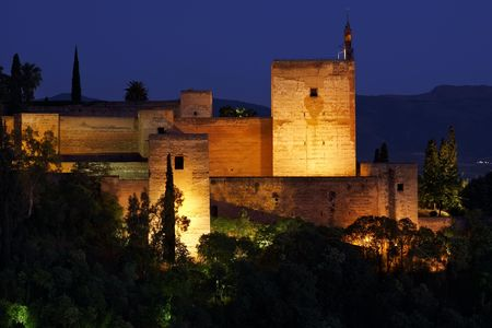 Alhambra after sunset, Granada, Spain Stock Photo - 3923472