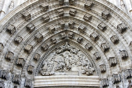 La Giralda,Sevilla,Spain, fragment of entrance Stock Photo - 4182861