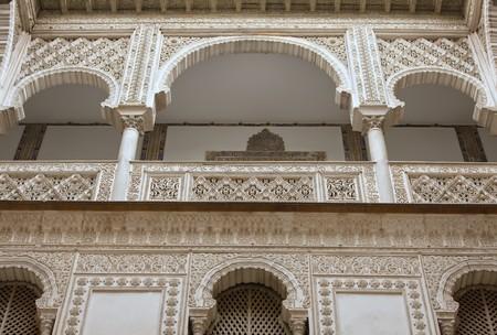 alcazar: Fragment of interior of the Reales Alcazares, Seville, Spain.