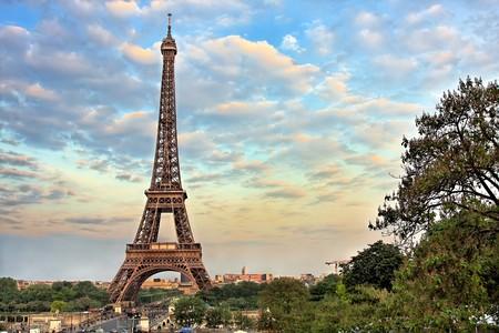 Eiffel Tower at evening, Paris, France