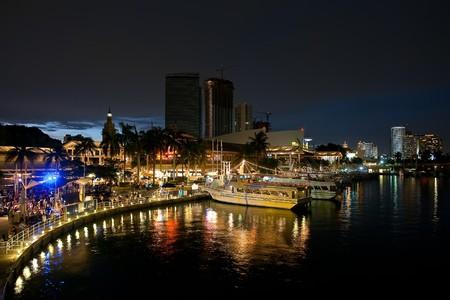 club scene: Downtown Miami at night, FL, USA  Stock Photo