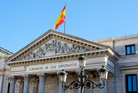 public houses: Congress of Deputies, Madrid, Spain Stock Photo