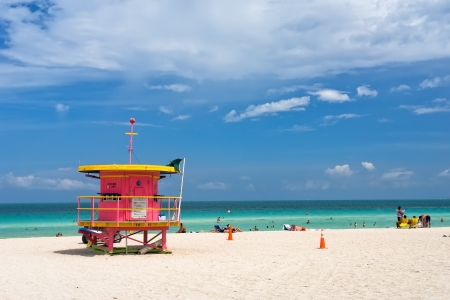 miami south beach: Lifeguard stand, South Beach, Miami, Florida