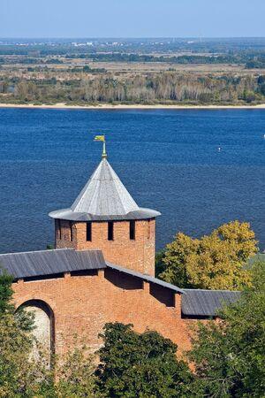 nizhny novgorod: Belaya tower of Nizhny Novgorod kremlin, Russia