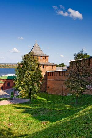 volga: Ivanovskaya tower of Nizhny Novgorod kremlin, Russia