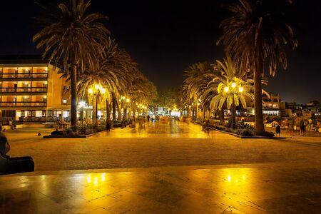 nerja: Nerja at night, Spain