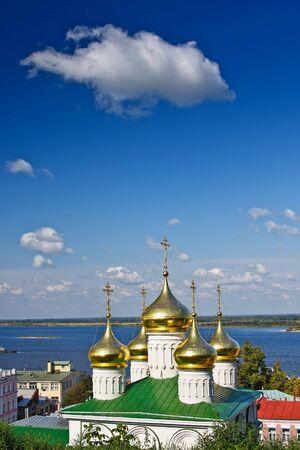 reverent: Cupola of John the Baptist church, Nizhny Novgorod, Russia Stock Photo