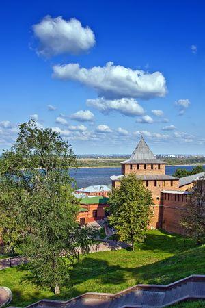 nizhny novgorod: Ivanovskaya tower of Nizhny Novgorod kremlin, Russia