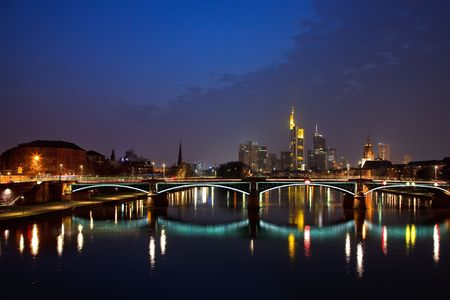 Frankfurt am Main at night photo