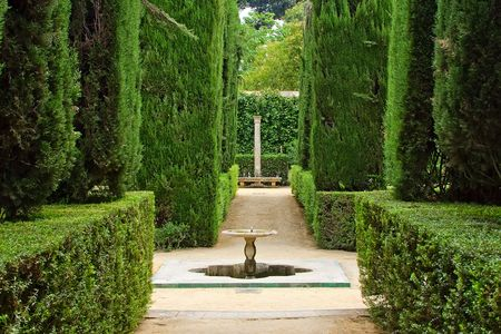 alcazar: Garden of the Poets, Alcazar Palace, Seville