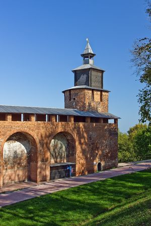Clock tower of Nizhny Novgorod kremlin, Russia photo