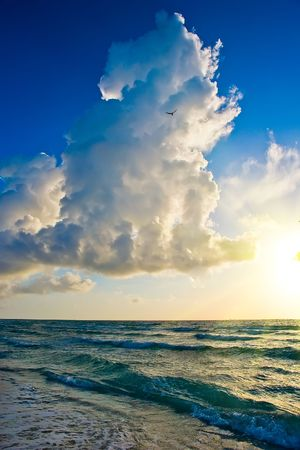 Sunrise, Atlantic ocean coast, FL, USA Stock Photo - 4753789