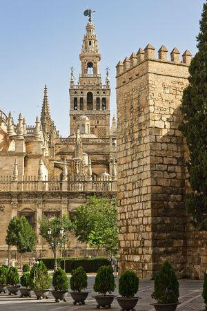 sevilla: La Giralda, Sevilla, Spanje Stockfoto