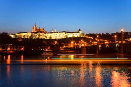 Prague Castle at night, Prague, Czech Republic Stock Photo - 4753960