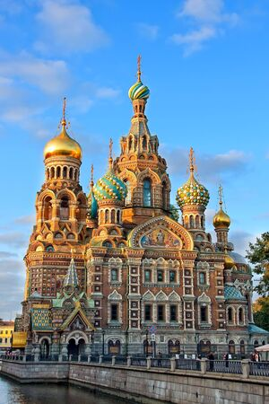 The Church of the Savior on Spilled Blood at sunset, St. Petersburg, Russia Stock Photo - 4753795