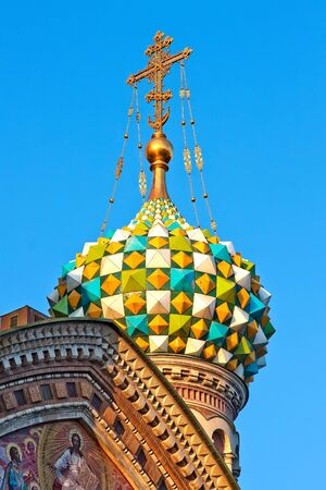 Detail of the Church of the Savior on Spilled Blood, St. Petersburg, Russia photo