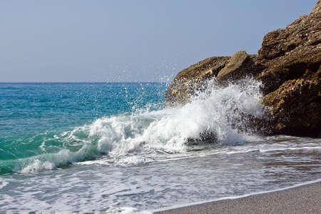 nerja: Mar Mediterr�neo en Nerja, Espa�a