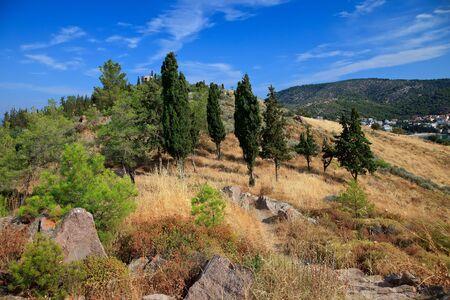 poros: Greek landscape, Poros, Greece