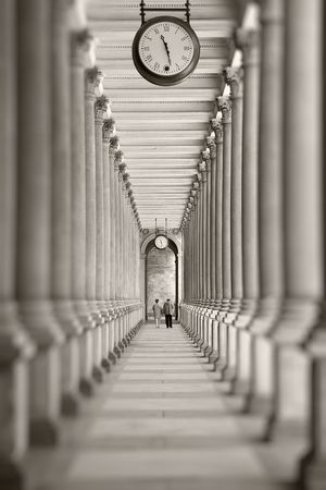 karlovy: Time is passing... (colonnade in Karlovy Vary, Czech Republic)