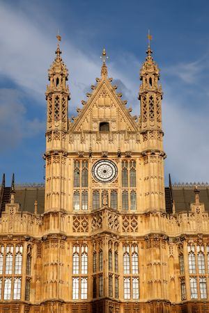 Detail of House of Parliament, London, UK photo