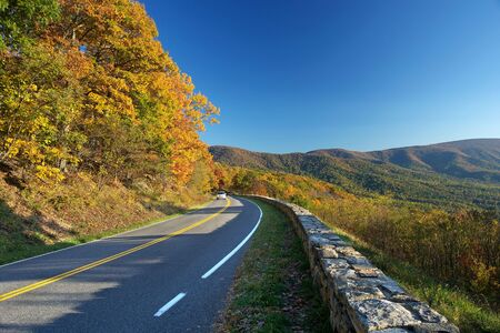 Shenandoah National park at the autumn Stock Photo - 5191752
