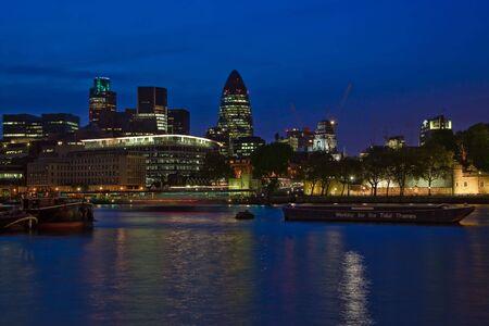 London City skyline at night