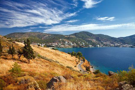 poros: Picture of Greek landscape taken on Poros island Stock Photo