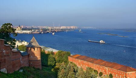 novgorod: Volga and Oka rivers, Nizhy Novgorod, Russia Stock Photo