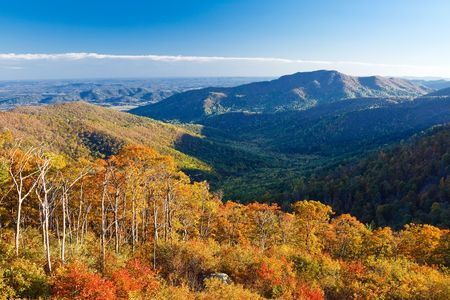 Autumn landscape in Shenandoah National park Stock Photo