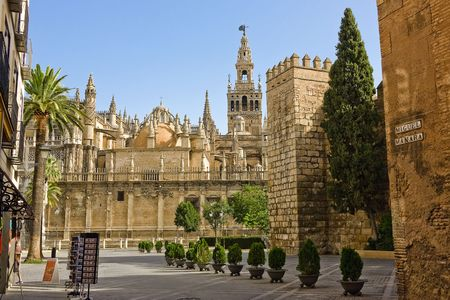 seville: La Giralda, Sevilla, Spain Stock Photo