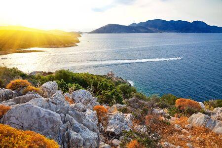 Greek islands at sunset Stock Photo - 5380774