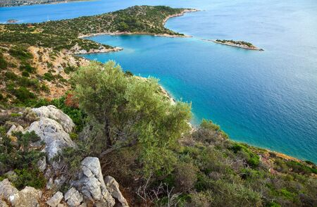 peloponnesus: Small quiet bay, Greece Stock Photo