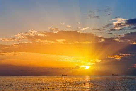 Sunrise over Atlantic ocean,  FL, USA Stock Photo - 5576391
