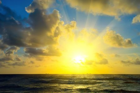 Sunrise over Atlantic ocean, FL, USA photo