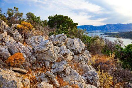 poros: Rocks on Poros, Greece