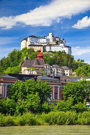 salzburg: Veiw on Hohensalzburg Fortress, Salzburg, Austria, 2009