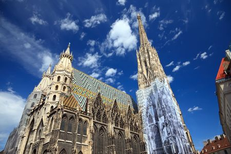 saint stephen cathedral: St. Stephan cathedral in Vienna, Austria, 2009