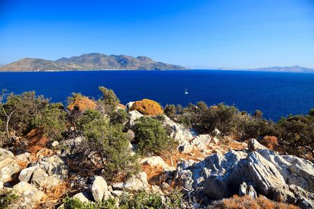 Greek islands at sunny day, Poros, Greece Stock Photo - 5651343