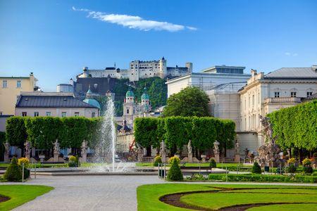 Fountain in Mirabell garden, Salzburg, Austria